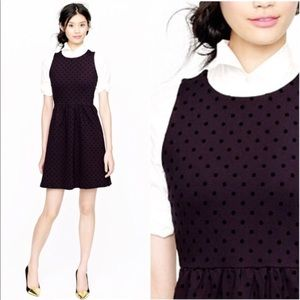J. Crew Polka-Dot Ponte Dress, Size Large
